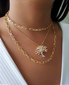 ed1a6aa0492 Colar Elo Cartier 60cm Banhado em Ouro18k - Lazzuli Joias ...