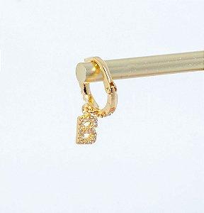 Piercing Com Letra Inicial Banhado em Ouro 18k