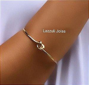 Bracelete Nó Banhado em Ouro 18k
