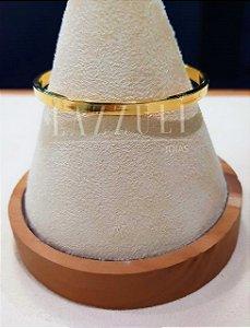 Bracelete Liso 0.5 cm Banhado em Ouro18k