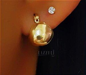 Brinco Mini Argola Lisa 1 cm Banhado em Ouro18k (SKU: 00031159)