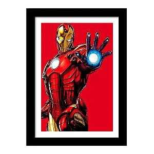 Quadro Decorativo Super Heróis Os Vingadores - Homem de Ferro - Marvel