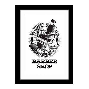 Quadro Decorativo Vintage para Barbearia em MDF Barber Shop Cadeira
