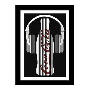 Quadro Decorativo Vintage para Cozinha em MDF Coca Cola DJ Retrô