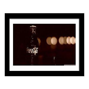 Quadro Decorativo Vintage para Cozinha e Churrasqueira em MDF Coca Cola Garrafa Retrô