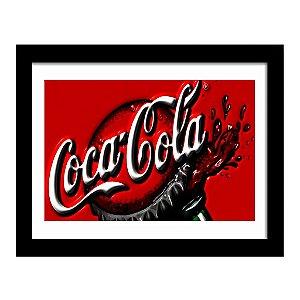 Quadro Decorativo Vintage para Cozinha e Churrasqueira em MDF Coca Cola Garrafa