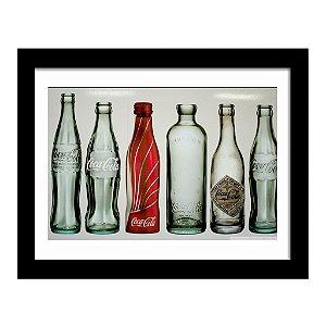 Quadro Decorativo Vintage para Cozinha e Churrasqueira em MDF Coca Cola Gerações