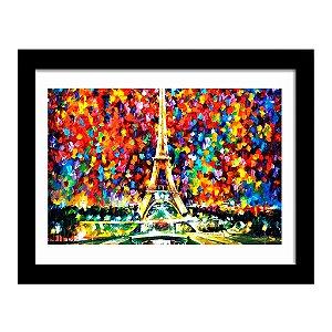 Quadro Decorativo para Sala de Estar Torre Eiffel Arte - Leonid Afremov
