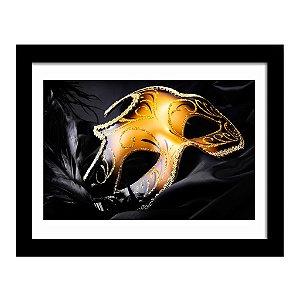 Quadro Decorativo para Sala de Estar Máscara de Carnaval - Arte