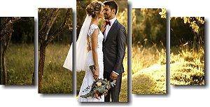 Tela Canvas Personalizada com Fotos de Casamento Momentos Especiais