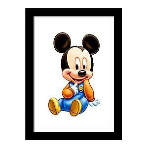 Quadro Decorativo para Quarto Infantil Mickey Baby Disney Kids