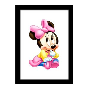 Quadro Decorativo para Quarto Infantil Minnie Baby Disney Kids