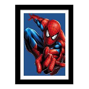 Quadro Decorativo Super Heróis para Quarto Os Vingadores - Homem Aranha - Marvel