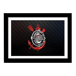 Quadro Decorativo para Quarto e Sala em MDF Escudo Corinthians