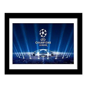 Quadro Decorativo para Quarto e Sala em MDF League UEFA Champions