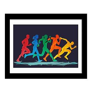 Quadro Decorativo para Quarto e Sala em MDF Maratona