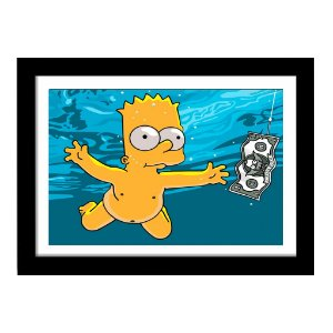 Quadro Decorativo Filme The Simpsons em MDF - Bart