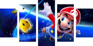 Tela Canvas Super Mario Bros Stars