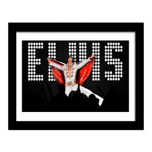 Quadro Decorativo para Sala em MDF Rock - Elvis Letreiro