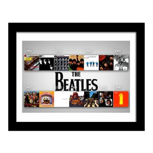 Quadro Decorativo para Sala em MDF Rock - Beatles Discografia