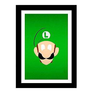 Quadro Decorativo para Quarto em MDF Super Mario - Luigi