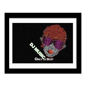 Quadro Decorativo para Sala em MDF DJ - Music Best