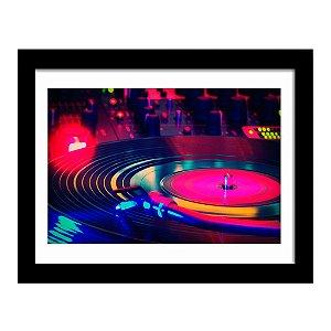 Quadro Decorativo para Sala em MDF DJ - Vinil