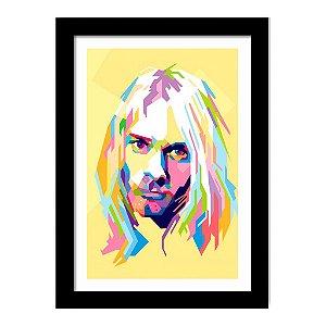 Quadro Decorativo para Sala em MDF Nirvana - Kurt Cobain