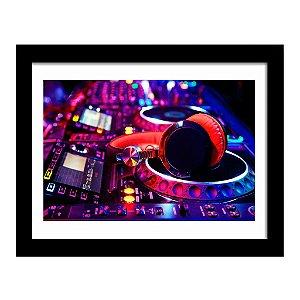 Quadro Decorativo para Sala em MDF Mixer e Fone - DJ