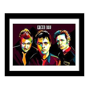 Quadro Decorativo para Sala em MDF Punk Rock - Green Day Arte