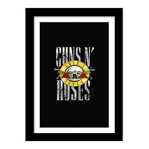 Quadro Decorativo para Sala em MDF Hard Rock - Guns' N Roses