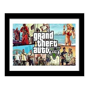 Quadro Decorativo para Quarto em MDF GTA - Grand Theft Auto V