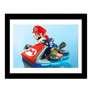 Quadro Decorativo para Quarto em MDF Super Mario - Kart