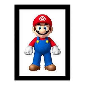 Quadro Decorativo para Quarto em MDF Game - Mario Bros Grande