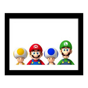 Quadro Decorativo para Quarto em MDF Game - Mario Players