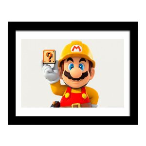 Quadro Decorativo para Quarto em MDF Game - Mario Pedreiro