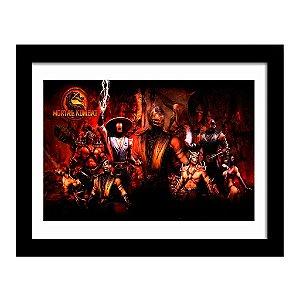 Quadro Decorativo para Quarto em MDF Game - Mortal Kombat