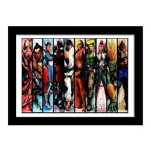 Quadro Decorativo para Quarto em MDF Street Fighter - Players