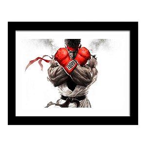 Quadro Decorativo para Quarto em MDF Street Fighter - Ryu