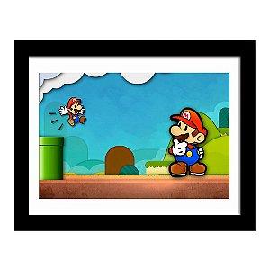 Quadro Decorativo para Quarto em MDF Super Mario - Fase