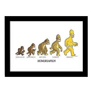 Quadro Decorativo em MDF Homers Sapien Evolução