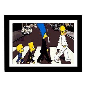Quadro Decorativo em MDF Simpsons Beatles