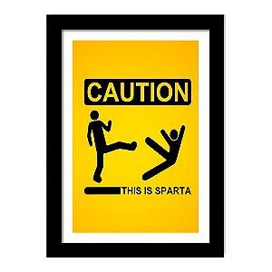 Quadro Decorativo em MDF Sparta Caution This is