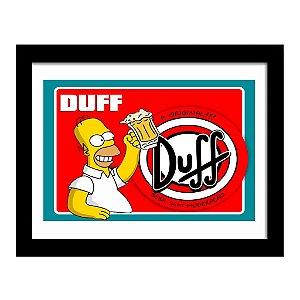 Quadro Decorativo em MDF Homer Duff Beer