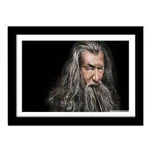 Quadro Decorativo em MDF Senhor dos Aneis Gandalf