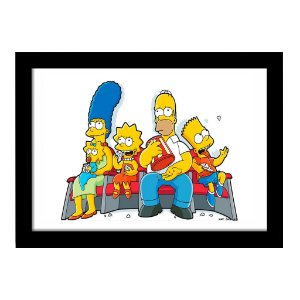 Quadro Decorativo em MDF Simpsons No Cinema