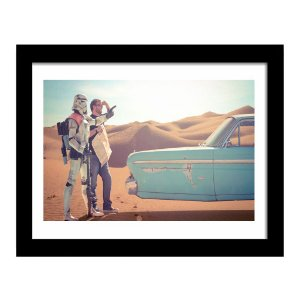 Quadro Decorativo em MDF Star Wars Stormtrooper Vintage