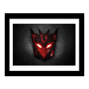 Quadro Decorativo em MDF Transformers Decepticons