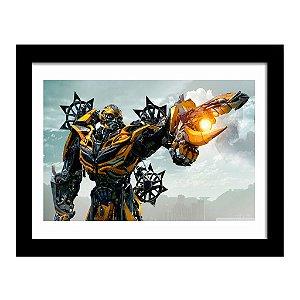 Quadro Decorativo em MDF Transformers Bumblebee Ataque