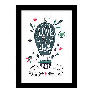Quadro Decorativo para Sala de Estar em MDF Frases - Love is The Air